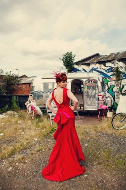The-couture-company-alternative-bespoke-custom-made-wedding-dresses-rockabilly-1950s-tea-length-swing-vintage-lace-tattoo-tattooed-bride-red-LeKeuxCoutureCoTravelInkAssassynation-133