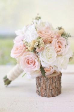 bouquet mariage champetre chic 3 Fresh 30 jolis bouquets de roses de mariée repérés sur Pinterest